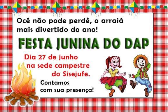 Festa Junina do DAP será na sede campestre