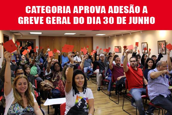 Assembleia aprova adesão à greve geral do dia 30 de junho