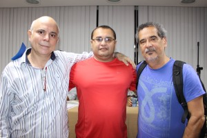 Comissão Eleitoral: Edson Mouta, Silas Faria Luiz e Og Carramillo Barbosa
