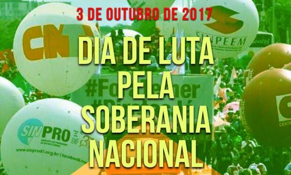 3 de Outubro: Dia de Luta pela Soberania Nacional contra o desmonte do serviço público