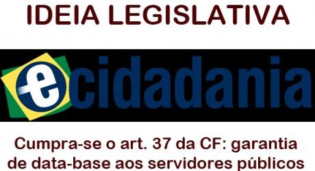 IDEIA LEGISLATIVA – Cumpra-se o art. 37 da CF: garantia de data-base aos servidores públicos