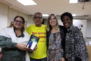 O lançamento foi prestigiado pelas diretoras do Sisejufe Lucena Pacheco, Soraia Marca e Neli Rosa