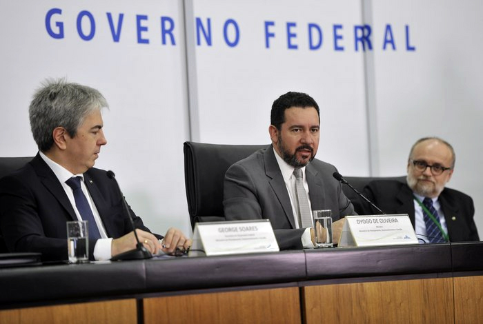 O ministro do Planejamento, Dyogo Oliveira, durante divulgação do relatório de receitas e despesas do governo no quarto bimestre