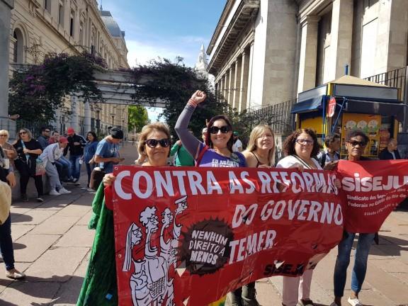 JORNADA CONTINENTAL – Delegação do Sisejufe na luta pela Democracia e Contra o Neoliberalismo