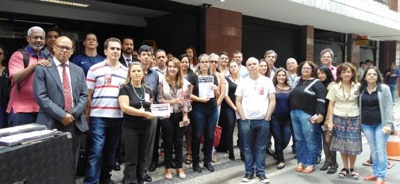 CONTRA A ANTIRREFORMA DA PREVIDÊNCIA – Dia de mobilização no Judiciário do Rio foi bastante produtivo
