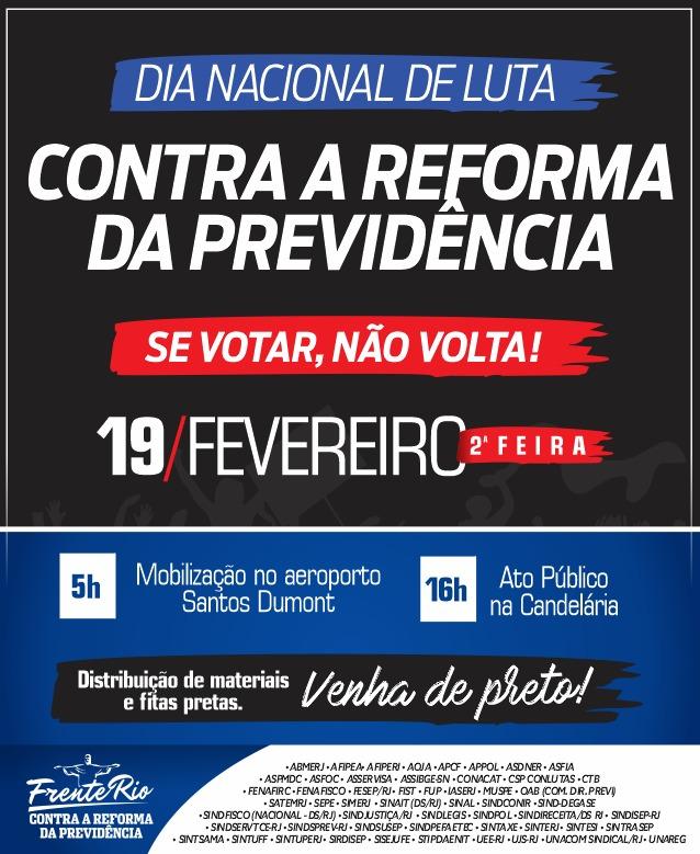 SERVIDORES PARTICIPAM DO Dia Nacional de Luta contra a Reforma da Previdência nesta segunda