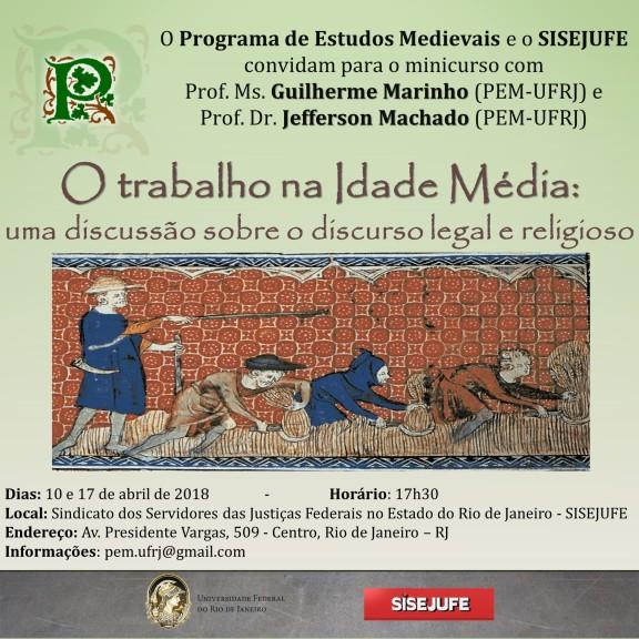 Sisejufe e UFRJ promovem minicurso sobre o trabalho na Idade Média