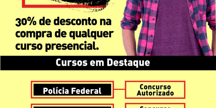 ACADEMIA DO CONCURSO – 30% off em qualquer curso