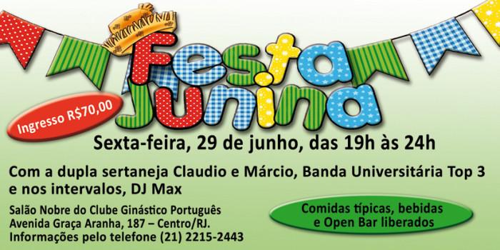 É HOJE: Festa Junina do Sisejufe anima Clube Ginástico Português