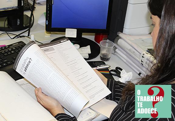O TRABALHO TE ADOECE? –  Sisejufe distribui questionários da II Pesquisa de Saúde no TRT1 da Lavradio