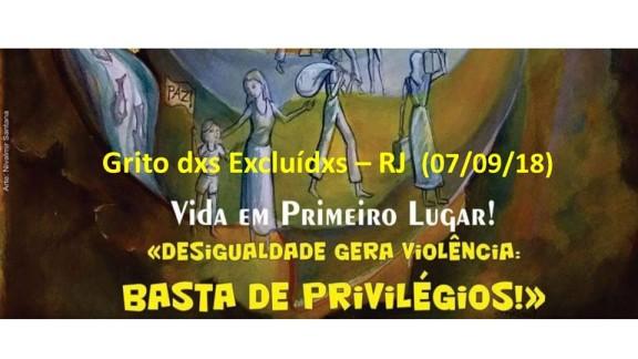 GRITO DOS EXCLUÍDOS – No Rio de Janeiro, a manifestação será no Centro da cidade