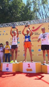 Nas 10 milhas Garoto, em Vilha Velha (ES), Mário foi o terceiro colocado em sua faixa etária