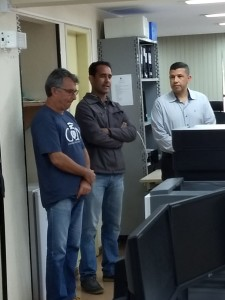 O presidente do Sisejufe, Valter Nogueira Alves, esteve em Angra para conversar com os servidores