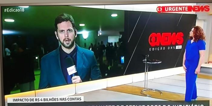 SISEJUFE PRESSIONA GloboNews para retificar informação sobre reajuste dos ministros do STF