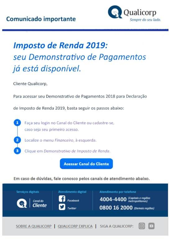 Demonstrativo- IR2019