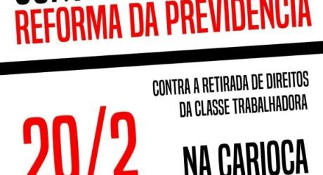 Frentes e centrais sindicais unidas contra reforma da Previdência nesta quarta-feira