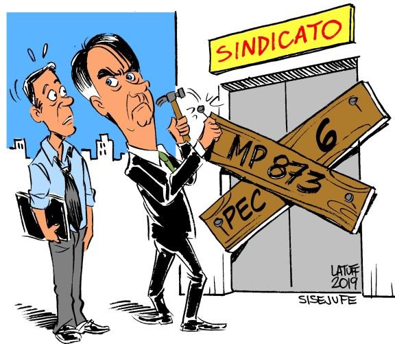 Vitória do Sisejufe com liminar contra MP 873 do governo Bolsonaro é destaque na imprensa