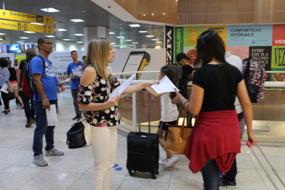 Sisejufe realiza ato contra Reforma da Previdência no aeroporto Santos Dumont