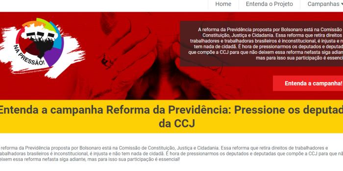 'Reforma da Previdência: pressione seu deputado'