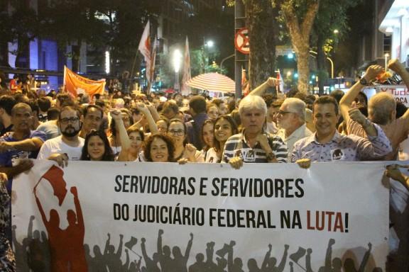 Sisejufe nas ruas em defesa da Educação, Justiça e Previdência Pública