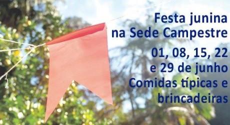 Sede Campestre terá festa junina e noite italiana na temporada de inverno