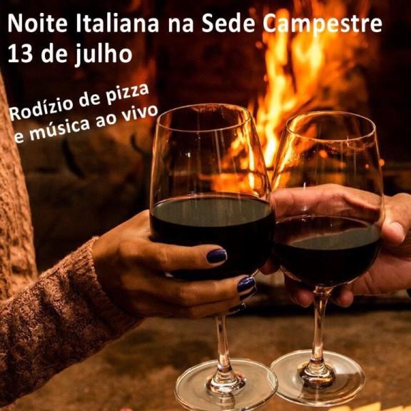 Noite Italiana na Sede Campestre: faça sua reserva